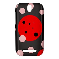 Red and pink dots HTC One SV Hardshell Case