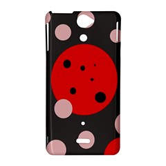 Red and pink dots Sony Xperia V