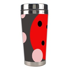 Red and pink dots Stainless Steel Travel Tumblers