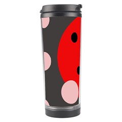 Red and pink dots Travel Tumbler