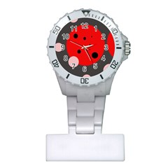 Red and pink dots Plastic Nurses Watch