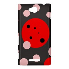 Red and pink dots Sony Xperia C (S39H)