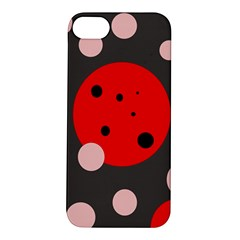 Red and pink dots Apple iPhone 5S/ SE Hardshell Case