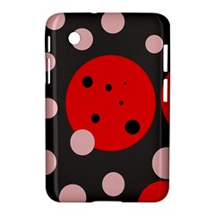 Red and pink dots Samsung Galaxy Tab 2 (7 ) P3100 Hardshell Case