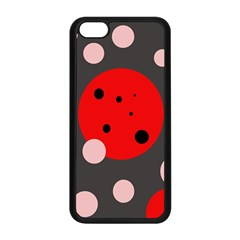 Red and pink dots Apple iPhone 5C Seamless Case (Black)