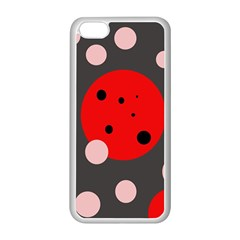 Red and pink dots Apple iPhone 5C Seamless Case (White)
