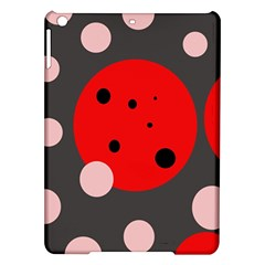 Red and pink dots iPad Air Hardshell Cases