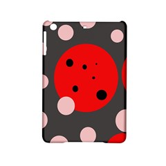 Red and pink dots iPad Mini 2 Hardshell Cases