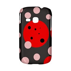 Red and pink dots Samsung Galaxy S6310 Hardshell Case