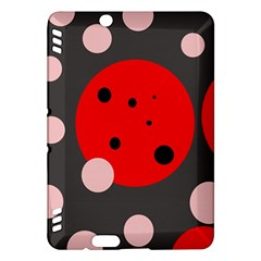 Red and pink dots Kindle Fire HDX Hardshell Case