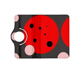 Red and pink dots Kindle Fire HD (2013) Flip 360 Case
