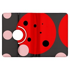 Red and pink dots Kindle Fire HDX Flip 360 Case