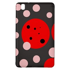 Red and pink dots Samsung Galaxy Tab Pro 8.4 Hardshell Case