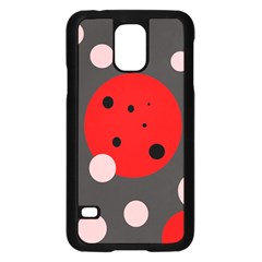 Red and pink dots Samsung Galaxy S5 Case (Black)