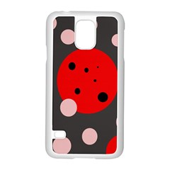 Red and pink dots Samsung Galaxy S5 Case (White)