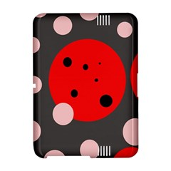 Red and pink dots Amazon Kindle Fire (2012) Hardshell Case