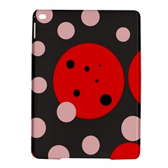 Red and pink dots iPad Air 2 Hardshell Cases