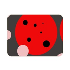 Red and pink dots Double Sided Flano Blanket (Mini)