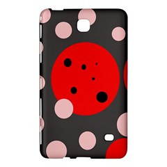 Red and pink dots Samsung Galaxy Tab 4 (8 ) Hardshell Case