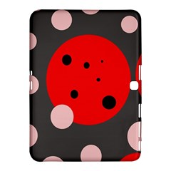 Red and pink dots Samsung Galaxy Tab 4 (10.1 ) Hardshell Case