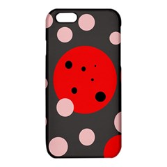 Red and pink dots iPhone 6/6S TPU Case