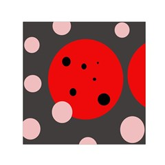 Red and pink dots Small Satin Scarf (Square)
