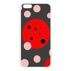 Red and pink dots Apple Seamless iPhone 6 Plus/6S Plus Case (Transparent)