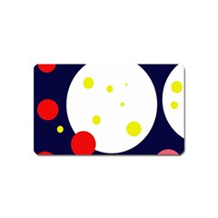 Abstract moon Magnet (Name Card)