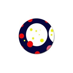 Abstract moon Golf Ball Marker
