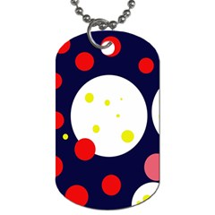 Abstract moon Dog Tag (Two Sides)