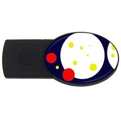 Abstract moon USB Flash Drive Oval (1 GB)