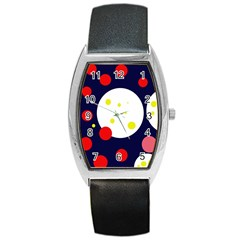 Abstract moon Barrel Style Metal Watch