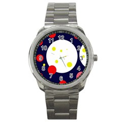 Abstract moon Sport Metal Watch