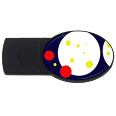 Abstract moon USB Flash Drive Oval (4 GB)