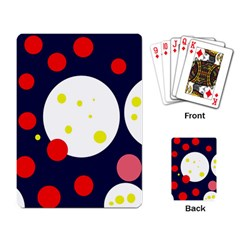 Abstract moon Playing Card