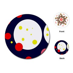 Abstract moon Playing Cards (Round)