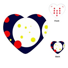 Abstract moon Playing Cards (Heart)