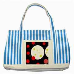 Abstract moon Striped Blue Tote Bag