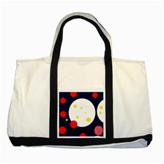 Abstract moon Two Tone Tote Bag