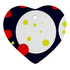 Abstract moon Heart Ornament (2 Sides)