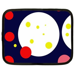 Abstract moon Netbook Case (Large)