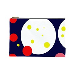 Abstract moon Cosmetic Bag (Large)