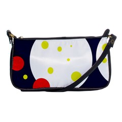 Abstract moon Shoulder Clutch Bags