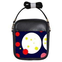 Abstract moon Girls Sling Bags
