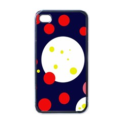 Abstract moon Apple iPhone 4 Case (Black)