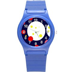 Abstract moon Round Plastic Sport Watch (S)