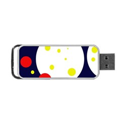 Abstract moon Portable USB Flash (One Side)
