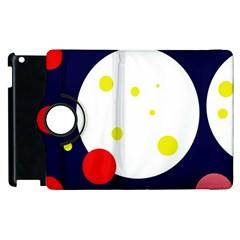 Abstract moon Apple iPad 3/4 Flip 360 Case