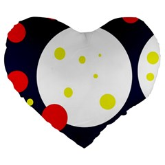Abstract moon Large 19  Premium Heart Shape Cushions