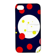 Abstract moon Apple iPhone 4/4S Hardshell Case with Stand